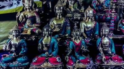Buddha Statue in Ladakh Market