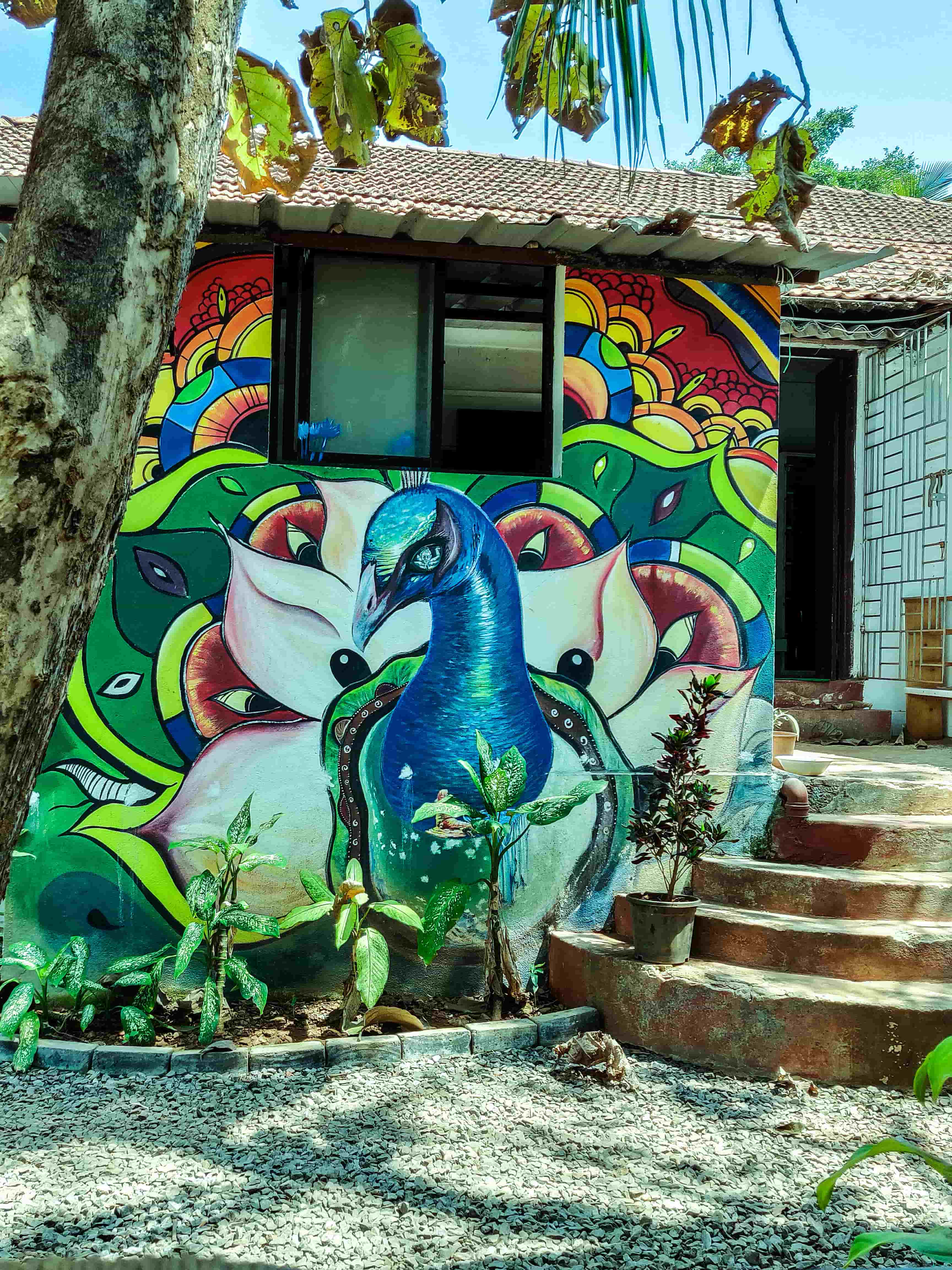 Things To Do In Goa in 2 Days Trip- Folklore Hostel Goa beautiful interior-min