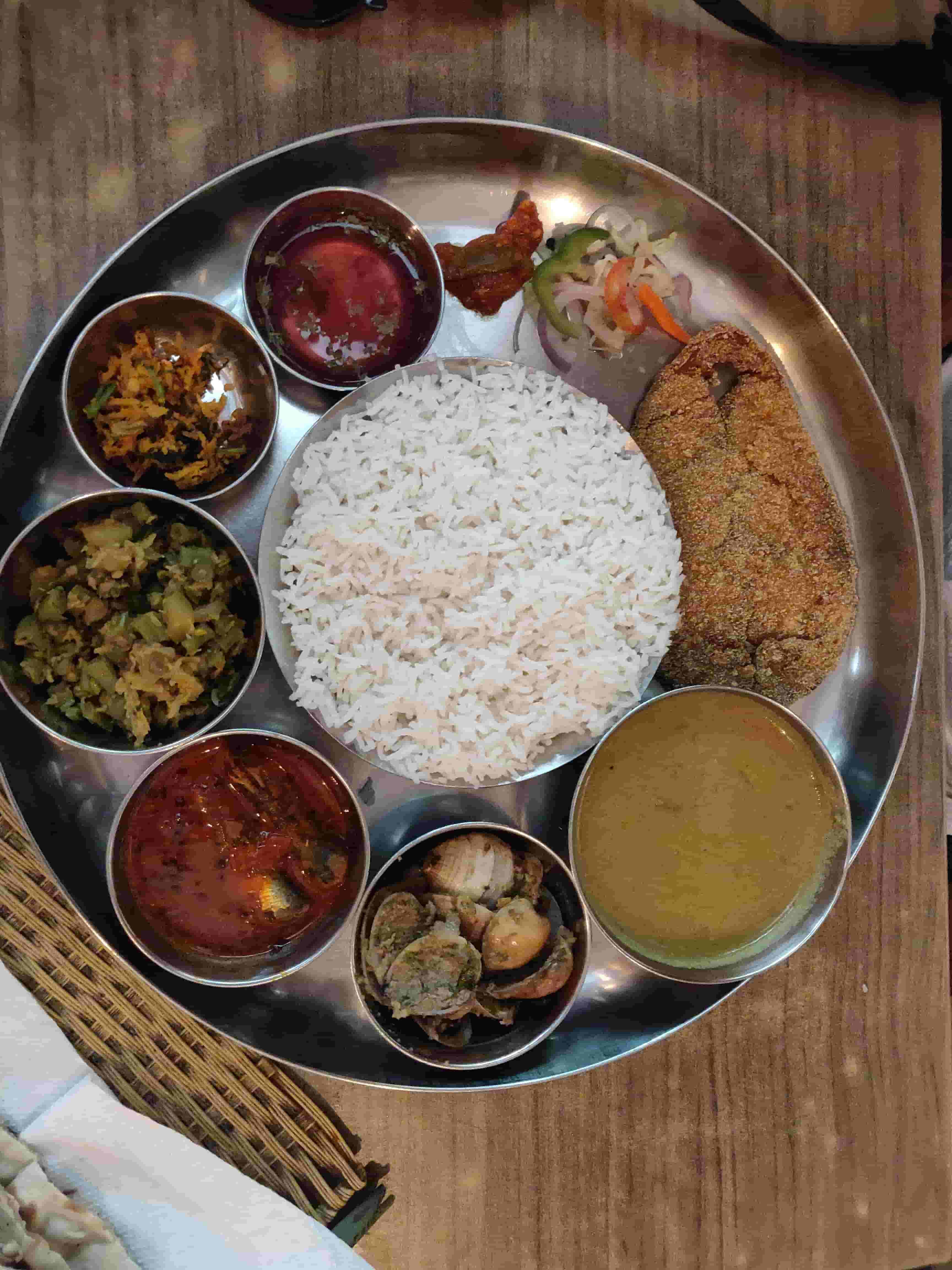 Things To Do In Goa in 2 Days Trip-Konkani canteen Thali- Goa Cuisine