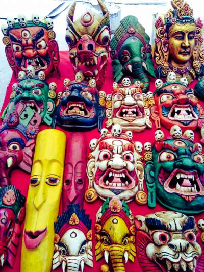 Masks in Ladakh Market