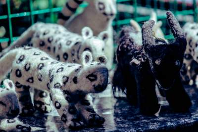 Snow Leopard hand made Soft toy